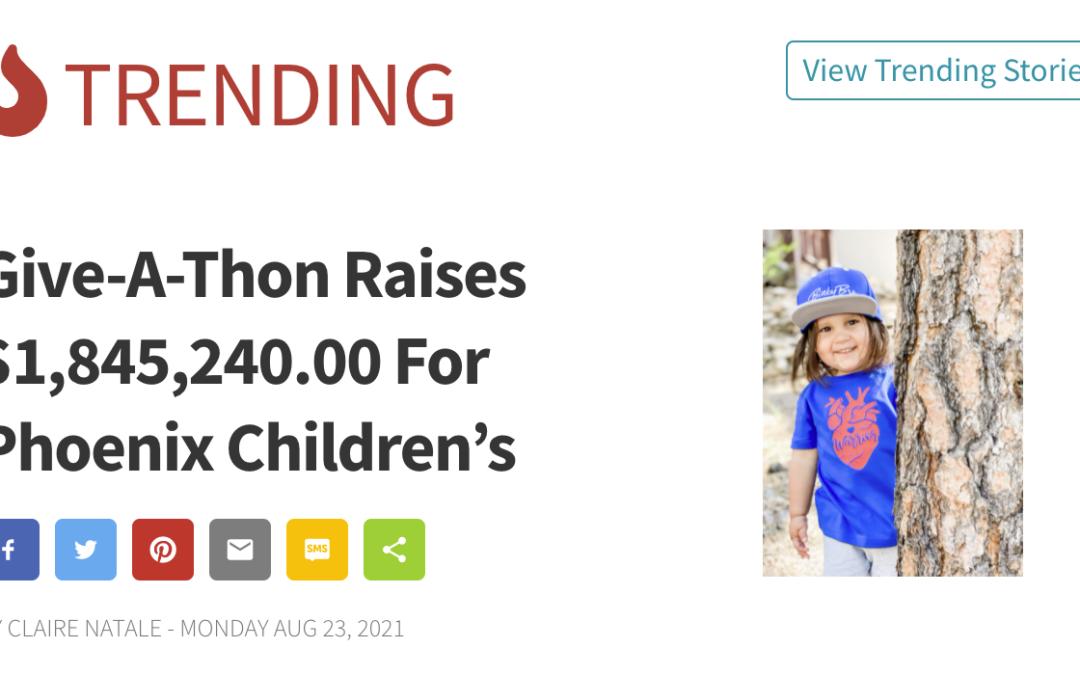 Give-A-Thon Raises $1,845,240.00 For Phoenix Children's